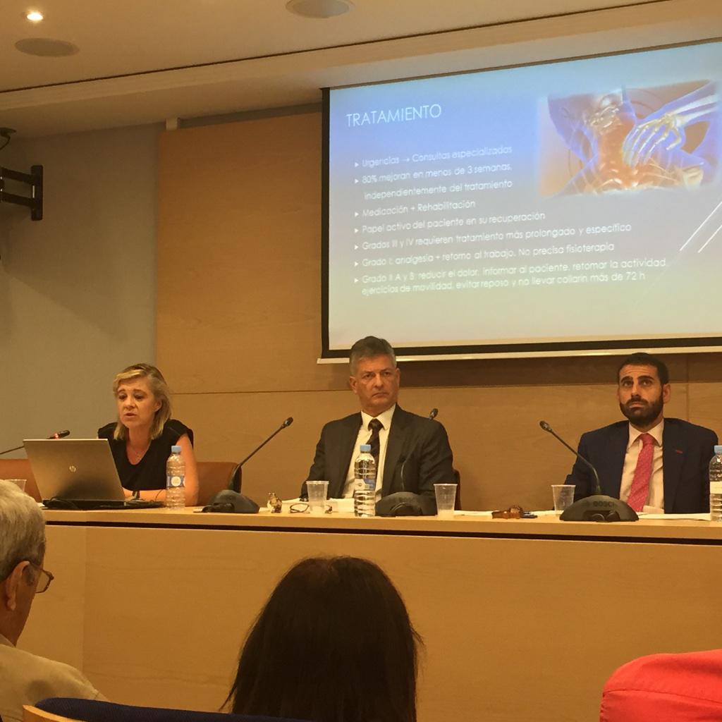 La Dra. Dña. Mª Teresa Pérez Nieves durante su ponencia para abogados de víctimas de tráfico