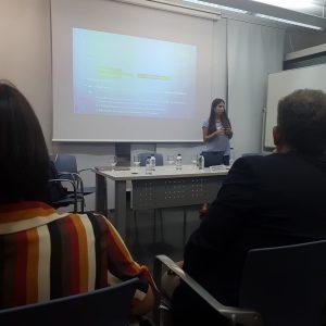 La trabajadora social de la Clínica San Vicente en el II Congreso Internacional de la SEAS 2018 en Valencia